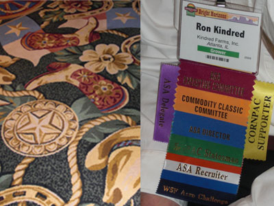 Carpet and Ron Kindred's name tag