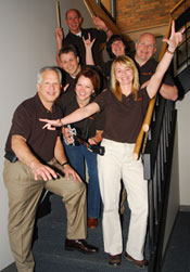 Paul Roberts, Roger Gardner, Jeff Moore, Anita Vanderwert, Lauri Bonnot, Stan Koenigsfeld, and Cyndi Young