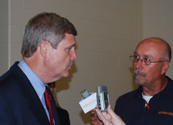 Sec. Vilsack and Brownfield's Dave Russell